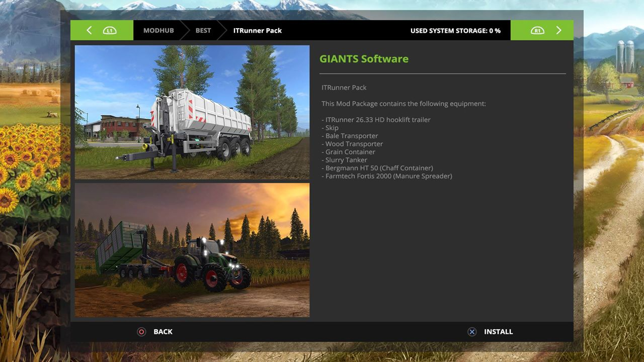 Farming Simulator 17 mods for PlayStation 4, Xbox One and PC