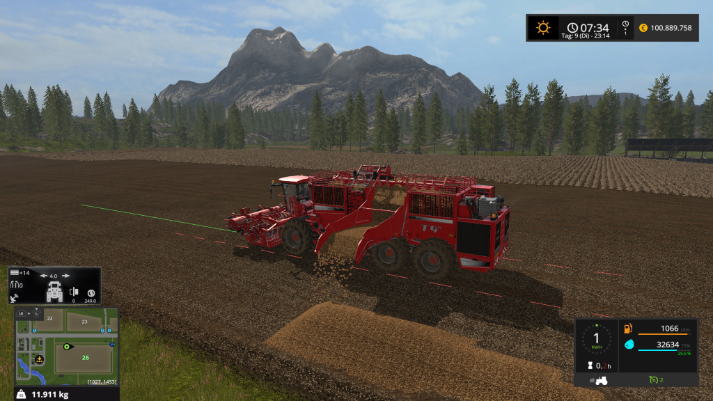 Standard Holmer Potato Ready Trailer - Farming Simulator 2017 mod