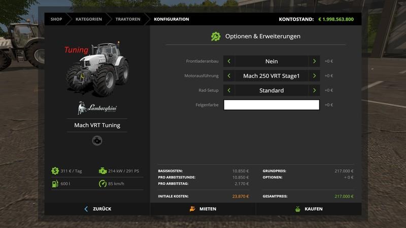 Lamborghini Mach VRT Tuning V 1 4 for LS17 - Farming