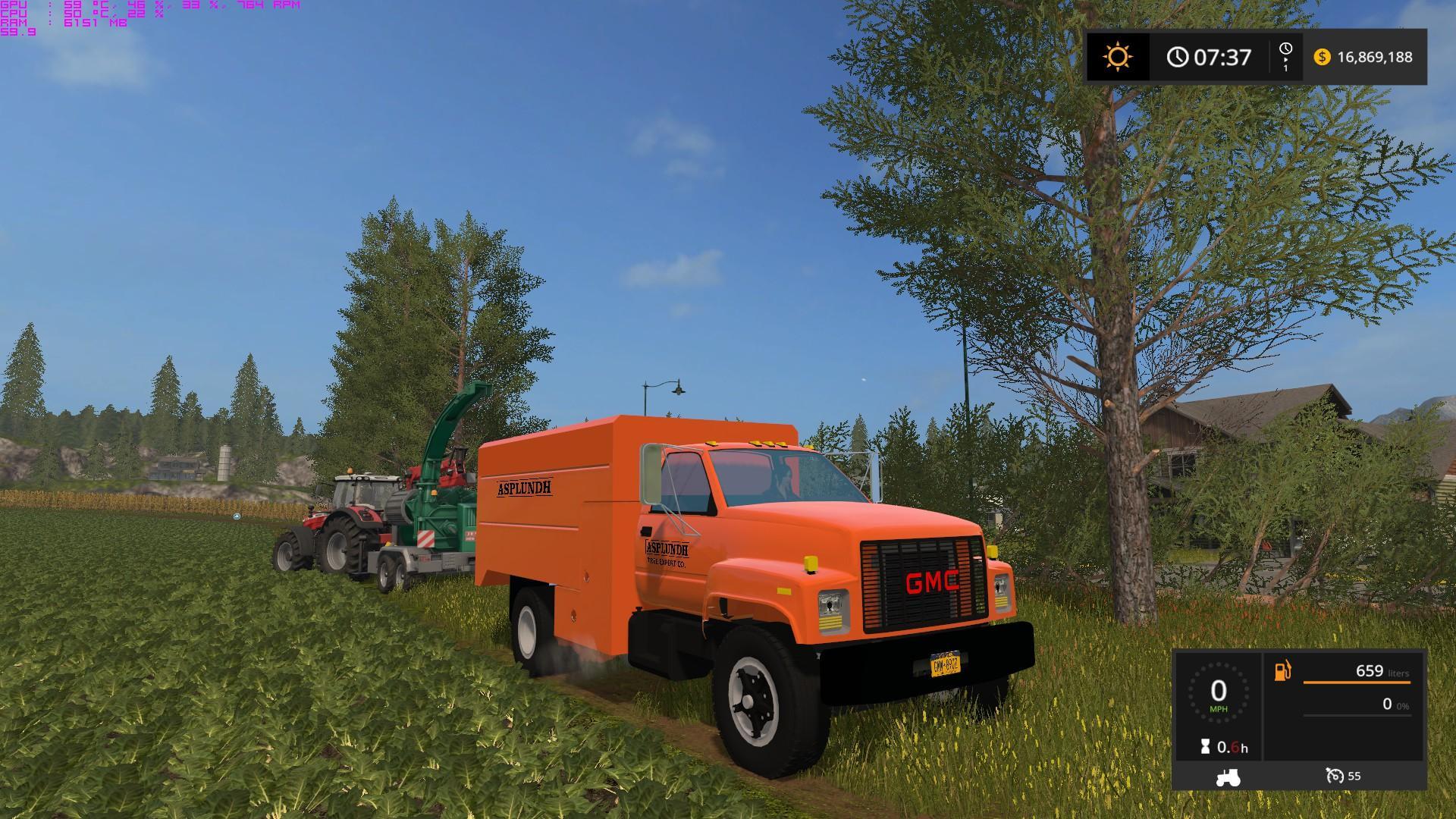 Gmc Asplundh Tree V 1 0 Ls 17 Farming Simulator 2017 Mod