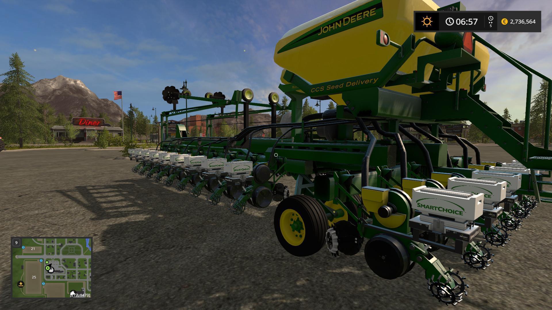 JOHNDEERE DB60 V5 0 0 FS17 - Farming Simulator 2017 mod, FS 17 mod