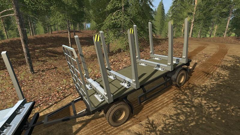Kraz Log Truck + Trailer V 1 0 0 0 for LS 17 - Farming Simulator