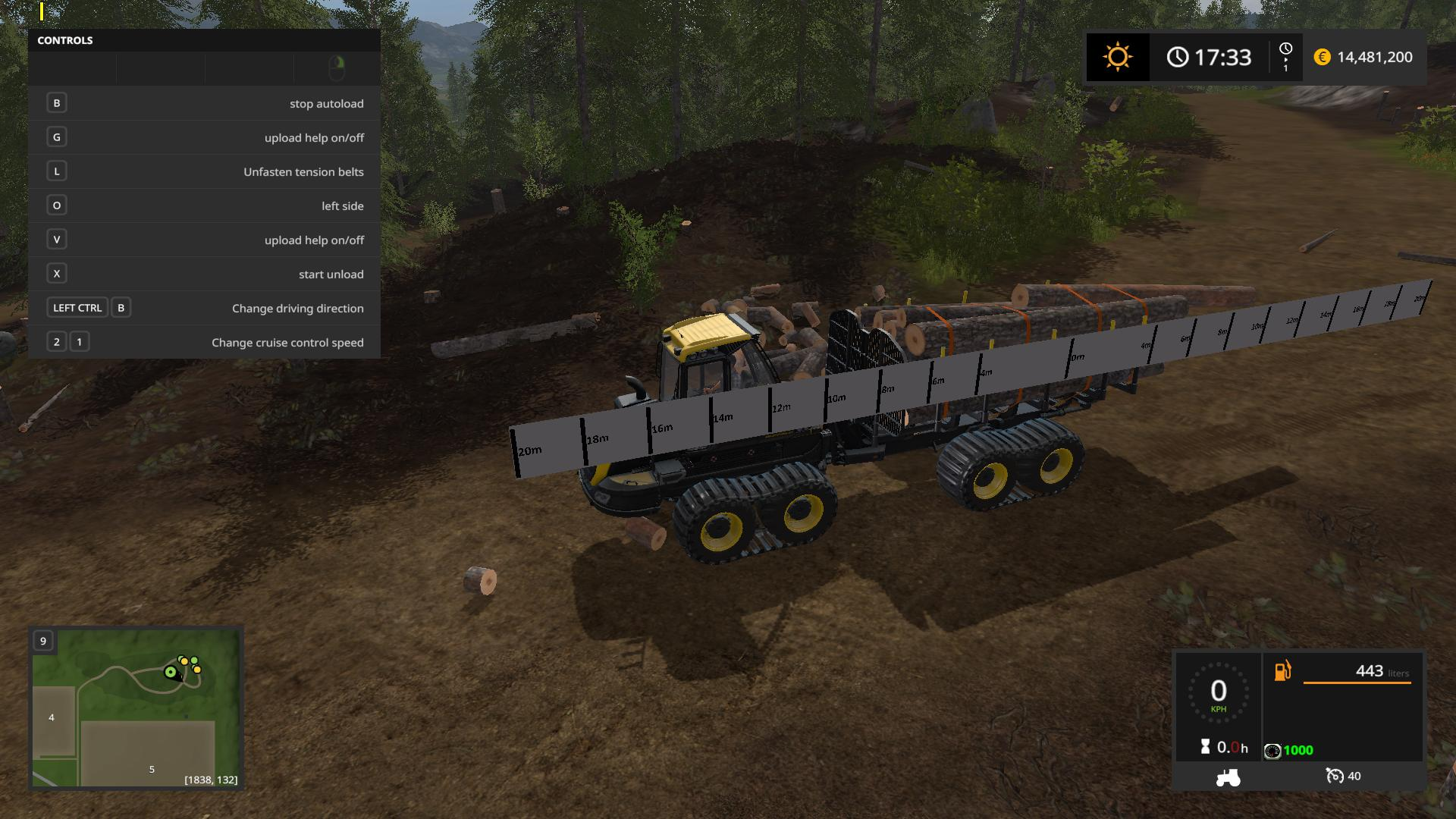 PONSSE BUFFALO WITH AUTOLOAD AND LOADING AID V1 1 for FS 17